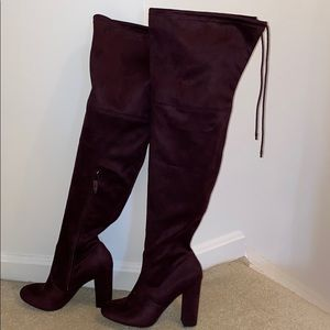 A New Day Purple Over The Knee Boot